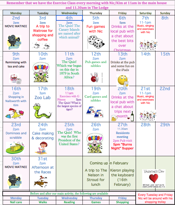 The Steppes Elderly Day Care | Activities